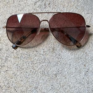 Warby Parker RAIDER rose gold sunglasses